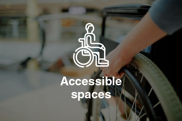 accessible spaces