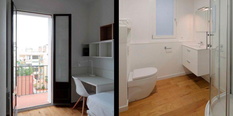 apartamento en gracia habitaciones residencias universitarias Unihabit b