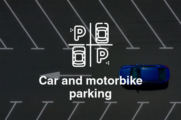 car and motorbike parking