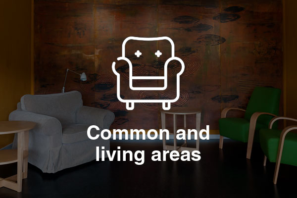 common and living areas