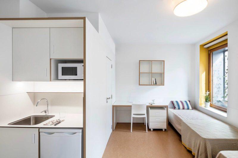habitacion doble con cocina habitaciones residencias universitarias Unihabit b