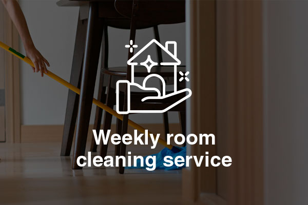 weekly room cleaning service